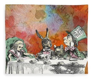 Alice In Wonderland - Tea Party - Blanket