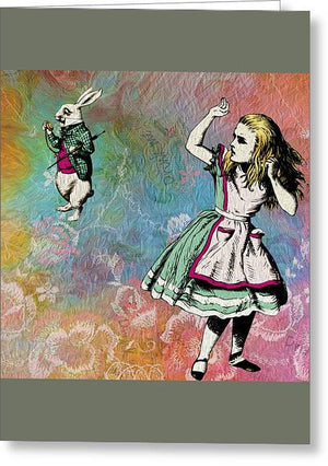 Alice In Wonderland - White Rabbit - Greeting Card