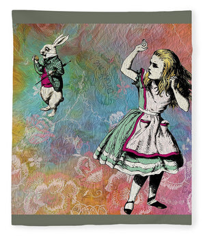 Alice In Wonderland - White Rabbit - Blanket