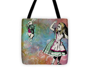 Alice In Wonderland - White Rabbit - Tote Bag