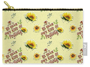 Be Your Own Kind of Positivity Pattern - Carry-All Pouch