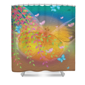 Beauty In Flight - Butterflies - Shower Curtain