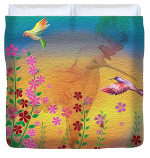 Beauty In Flight - Hummingbirds - Duvet Cover