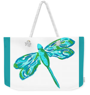 Blue and Green Dragonfly - Weekender Tote Bag