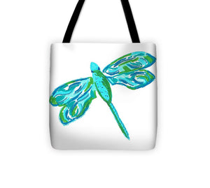 Blue and Green Dragonfly - Tote Bag