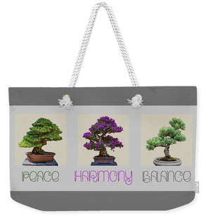 Bonsai - Peace Harmony Balance - Triptych - Weekender Tote Bag