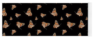 Butterfly Wings Pattern - Black - Yoga Mat
