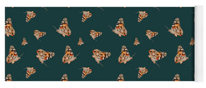 Butterfly Wings Pattern - Dark Green - Yoga Mat