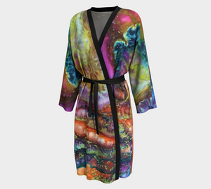 Newport Background Design Peignoir / Long Kimono