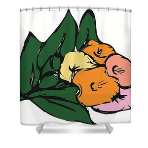 Catch the Bouquet 2 of 3 - Shower Curtain