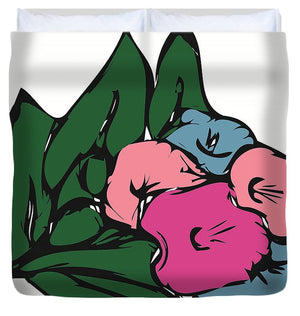Catch the Bouquet 3 of 3 - Duvet Cover