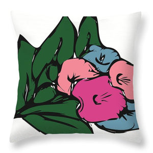 Catch the Bouquet 3 of 3 - Throw Pillow
