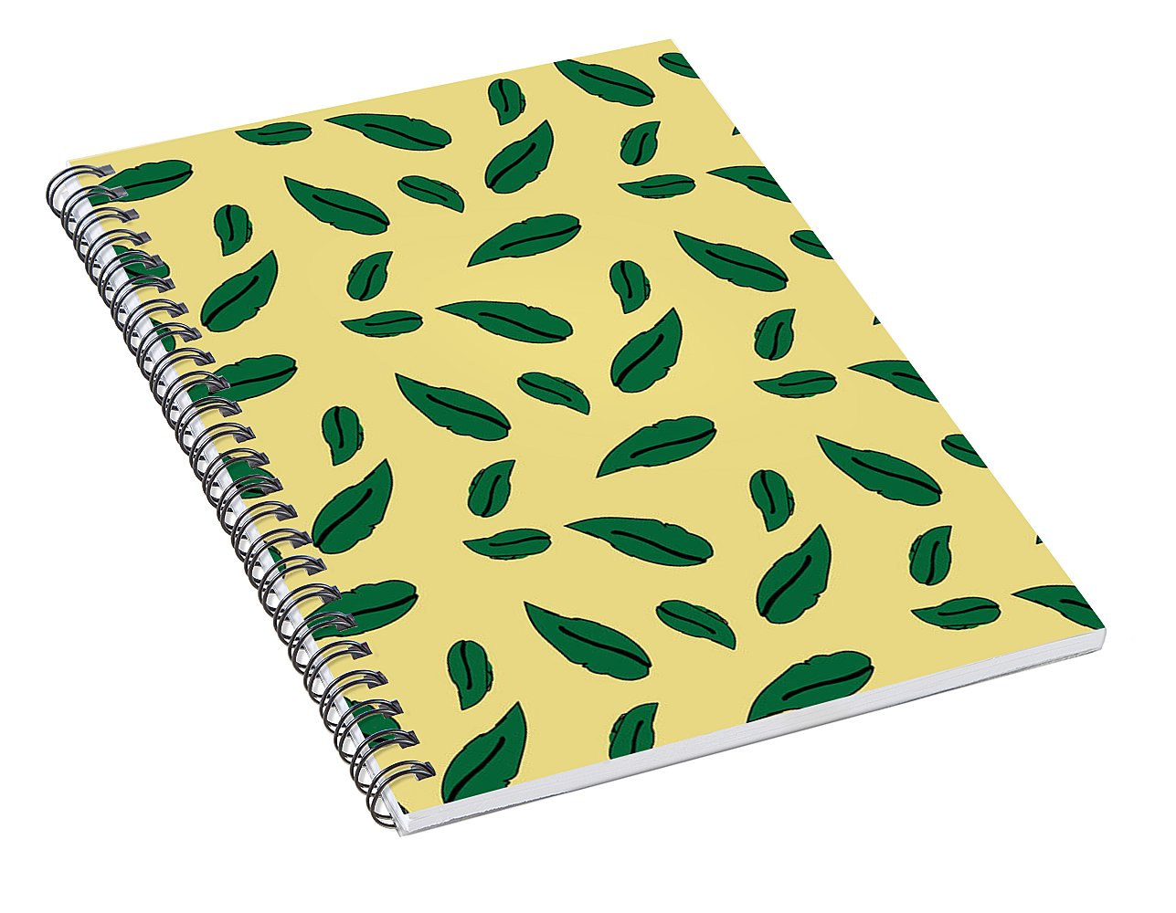 Catch the Bouquet Leaves Pattern - Spiral Notebook