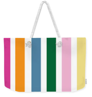 Catch the Bouquet Stripe Pattern - Weekender Tote Bag