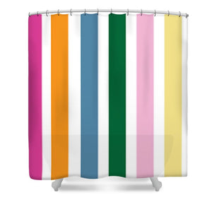 Catch the Bouquet Stripe Pattern - Shower Curtain
