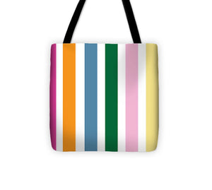 Catch the Bouquet Stripe Pattern - Tote Bag