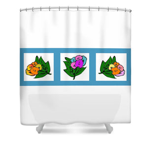 Catch the Bouquet Triptych - Shower Curtain