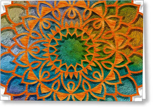 Cemented Mandala 1 - Greeting Card