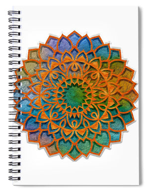 Cemented Mandala 1 - Spiral Notebook