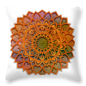Cemented Mandala 2 - Throw Pillow
