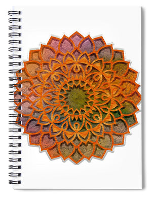 Cemented Mandala 2 - Spiral Notebook