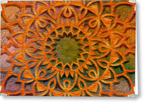 Cemented Mandala 2 - Greeting Card