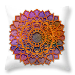 Cemented Mandala 3 - Throw Pillow