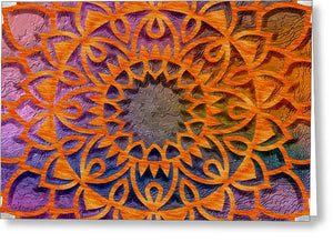Cemented Mandala 3 - Greeting Card