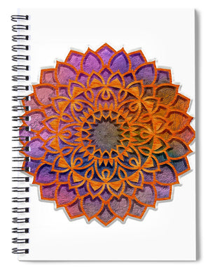 Cemented Mandala 3 - Spiral Notebook