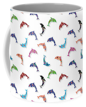 Colorful Dolphins Pattern - Mug
