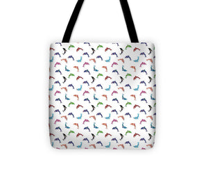 Colorful Dolphins Pattern - Tote Bag
