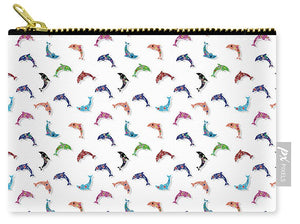 Colorful Dolphins Pattern - Carry-All Pouch