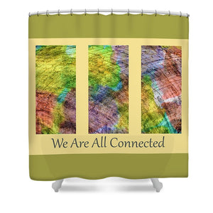 Connected World Triptych - Shower Curtain