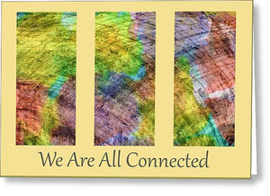 Connected World Triptych - Greeting Card