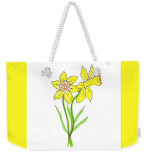Daffodil Times Two - Weekender Tote Bag