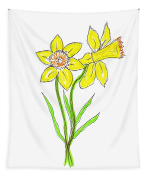 Daffodil Times Two - Tapestry