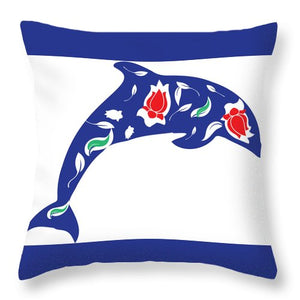 Dolphin 3 - Throw Pillow