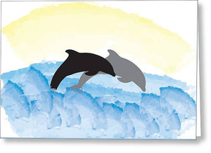 Dolphins 1 of 2 - Greeting Card