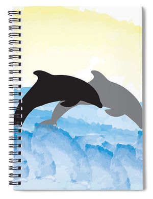 Dolphins 1 of 2 - Spiral Notebook