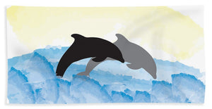 Dolphins 1 of 2 - Beach Towel