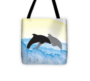 Dolphins 1 of 2 - Tote Bag