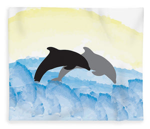 Dolphins 1 of 2 - Blanket