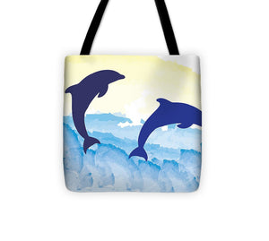 Dolphins 2 of 2 - Tote Bag