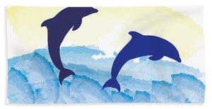Dolphins 2 of 2 - Beach Towel