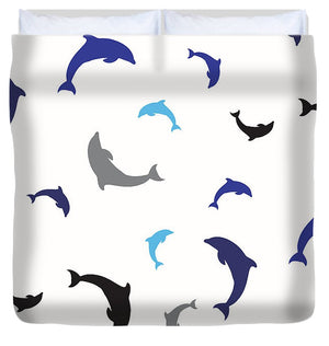 Dolphins Delight Pattern - Large - Duvet Cover