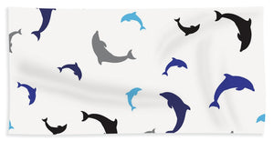 Dolphins Delight Pattern - Large - Bath Towel