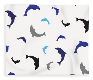 Dolphins Delight Pattern - Large - Blanket