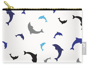 Dolphins Delight Pattern - Large - Carry-All Pouch
