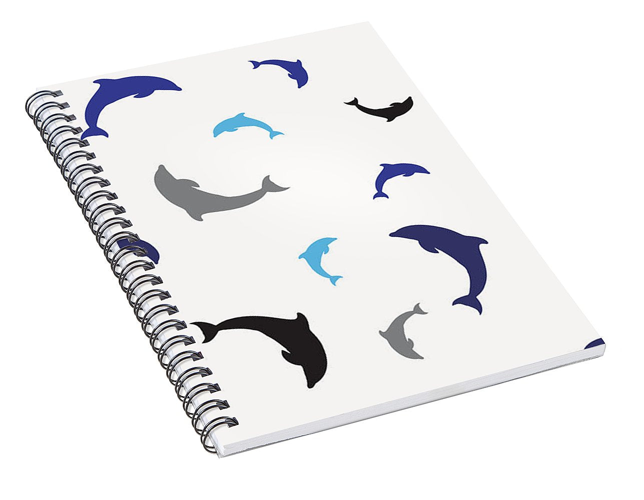 Dolphins Delight Pattern - Large - Spiral Notebook