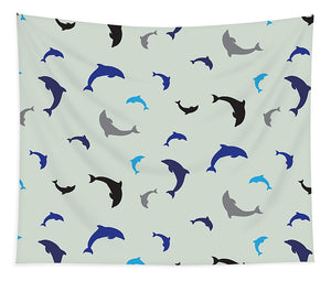 Dolphins Delight Pattern - Small - Tapestry
